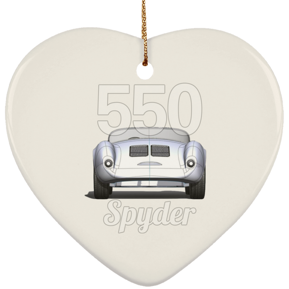 550 spyder rear SUBORNH Ceramic Heart Ornament
