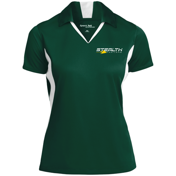 stealth logo cropped LST655 Sport-Tek Ladies' Colorblock Performance Polo