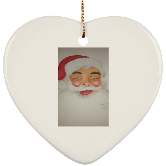 santa orn 3 SUBORNH Ceramic Heart Ornament