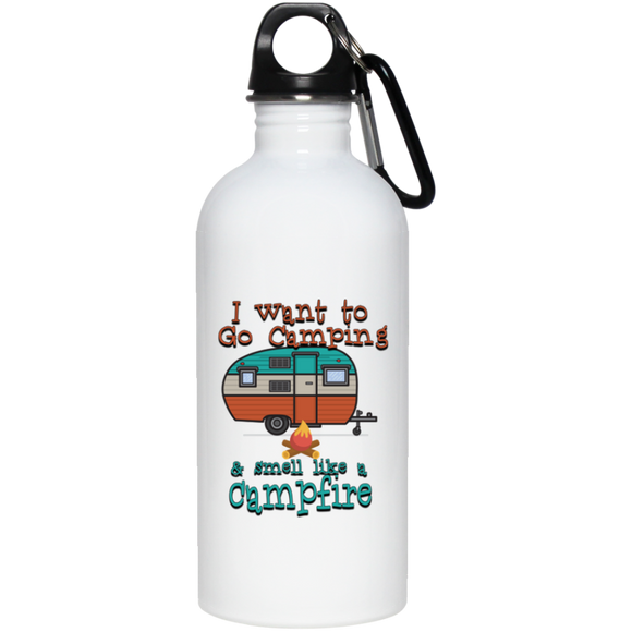 Smell Like A Campfire 20 oz Stainless Steel Water Bottle