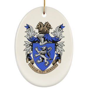 Atlee coat of arms SUBORNO Ceramic Oval Ornament