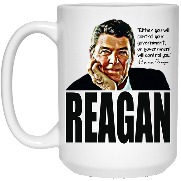 Reagan Control Gov 21504 15 oz. White Mug