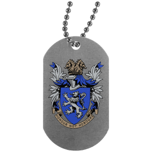 Atlee coat of arms UN4004 Silver Dog Tag
