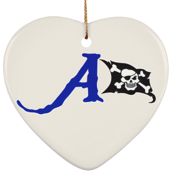 raiders a flag SUBORNH Ceramic Heart Ornament