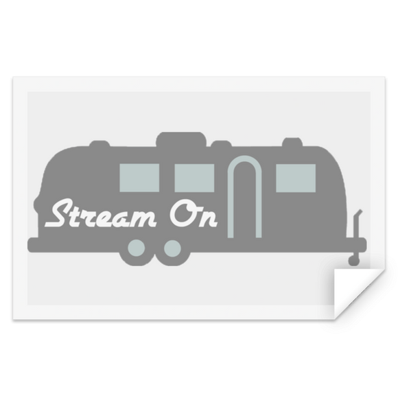 Stream on silhouette logo STRE Rectangle Sticker