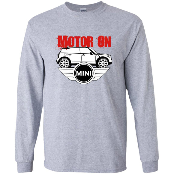 motor on 2 G240 Gildan LS Ultra Cotton T-Shirt