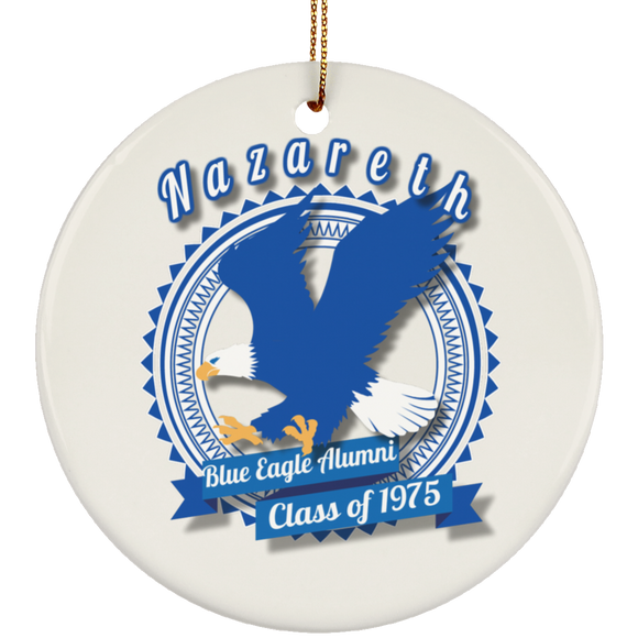Blue eagle alumni badge SUBORNC Ceramic Circle Ornament