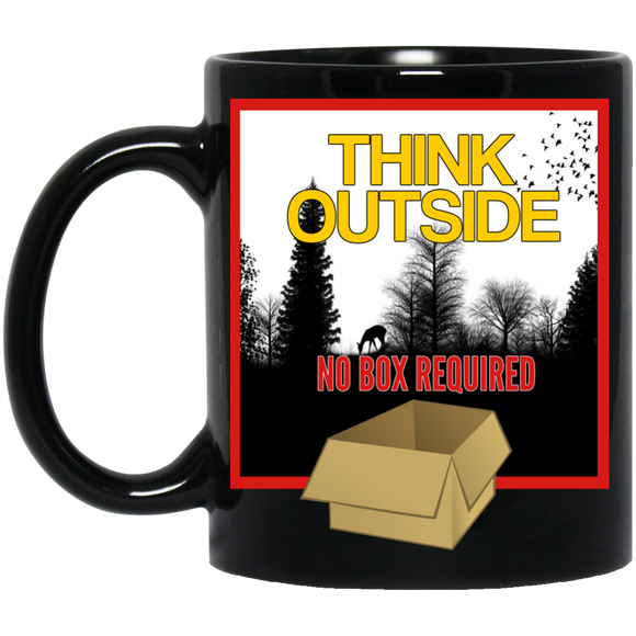 Think Outside Black 11 oz. Mug