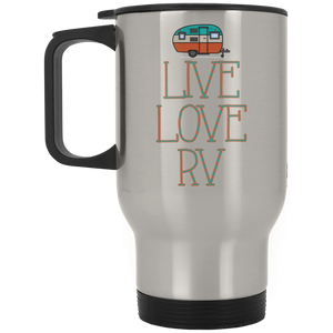 Live Love RV Silver Stainless Travel Mug