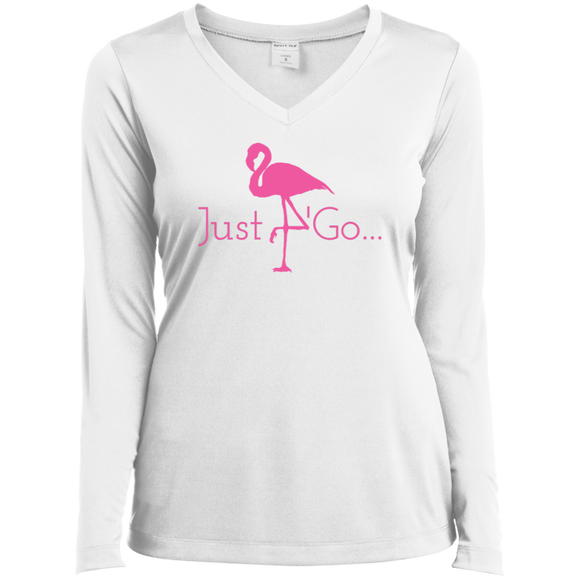 Just go flamingo simple LST353LS Sport-Tek Ladies' LS Performance V-Neck T-Shirt