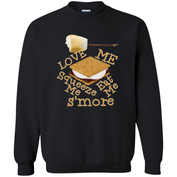 S'more Printed Crewneck Pullover Sweatshirt  8 oz