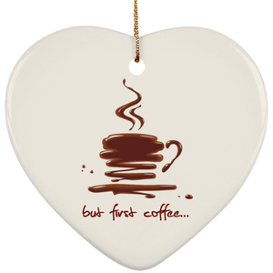 coffee 1p SUBORNH Ceramic Heart Ornament