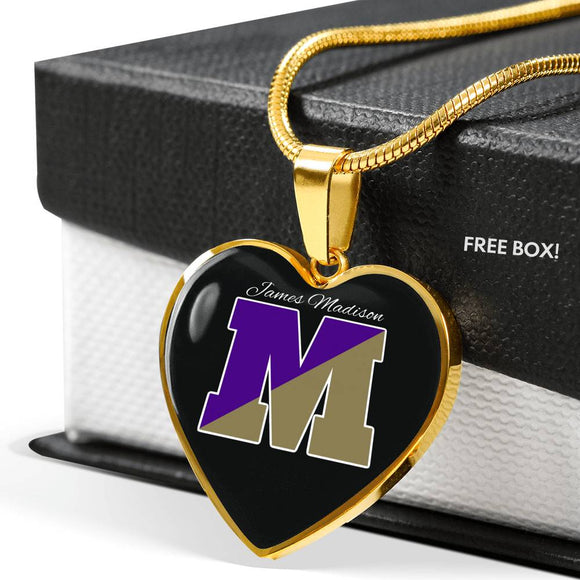Madison M Heart Pendant Necklace