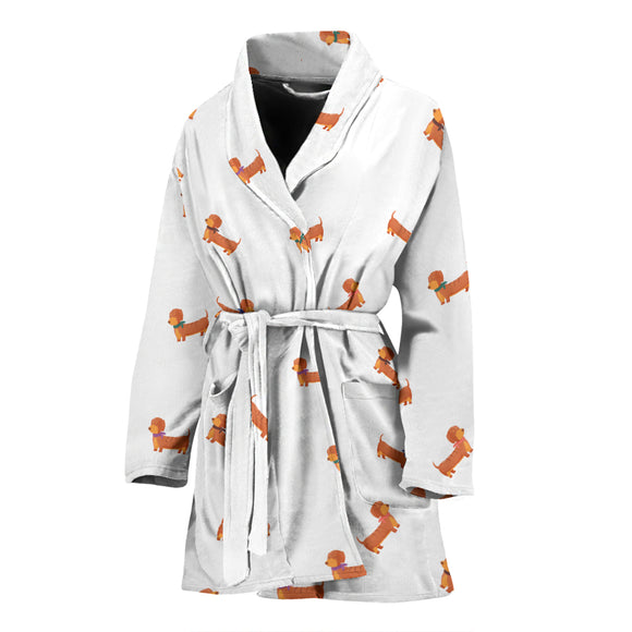 Sausage dog WOMEN'S BATHROBE