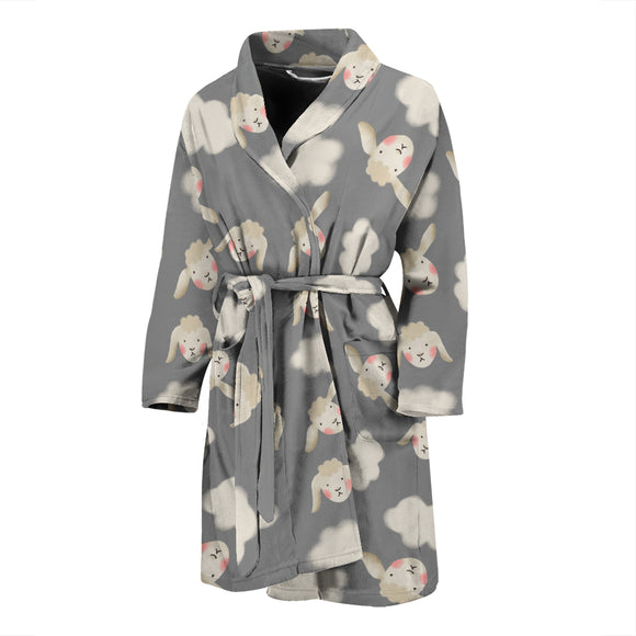 Sheeps N Clouds MEN'S BATHROBE