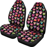 Black Owls Car Seat Cover
