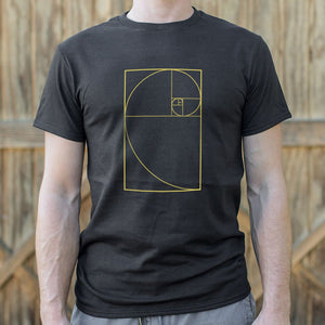 Mens Golden Spiral Diagram T-Shirt