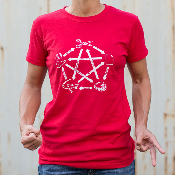 Ladies Rock Paper Scissors Lizard Spock T-Shirt