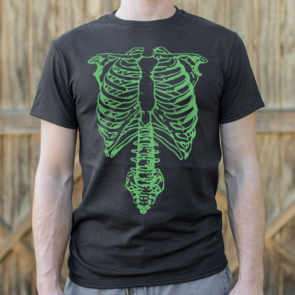 Mens Tap The Spinal Skeleton T-Shirt