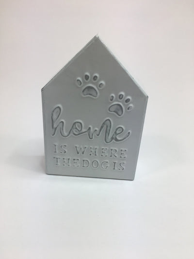 Dog metal house plaques