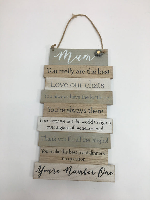 Mum Slatted Plaque