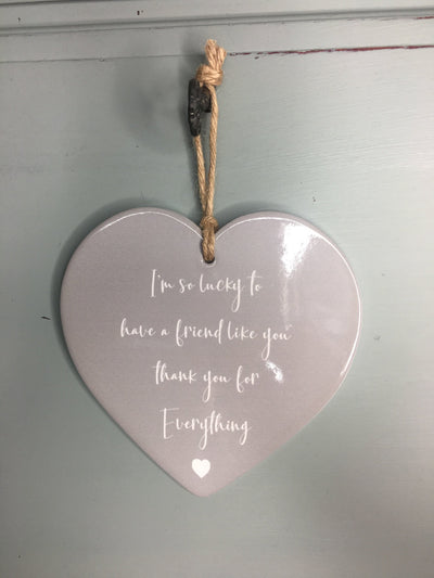 Lucky Friend Ceramic Heart