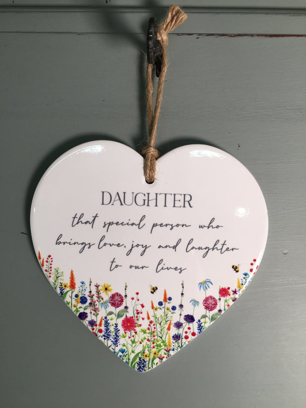Daughter Floral Heart