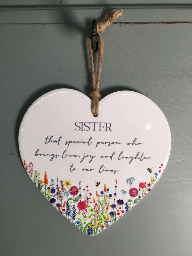 Sister Floral Heart