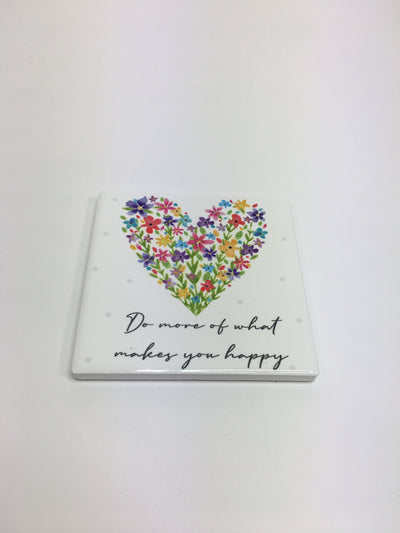 Makes you happy floral coaster