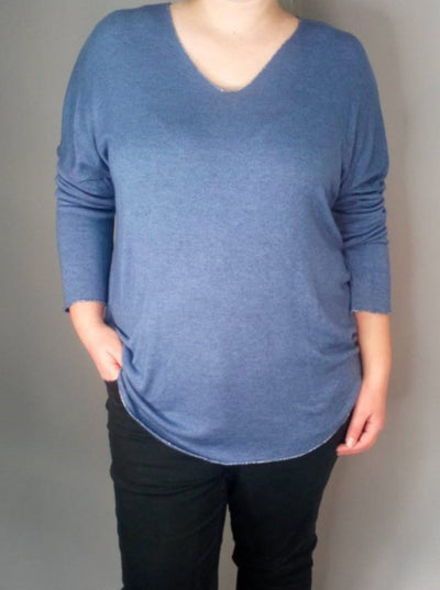 Soft touch v neck top