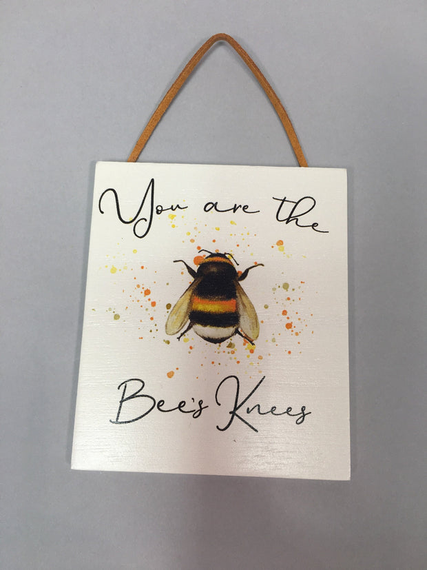 Bee motto plaque