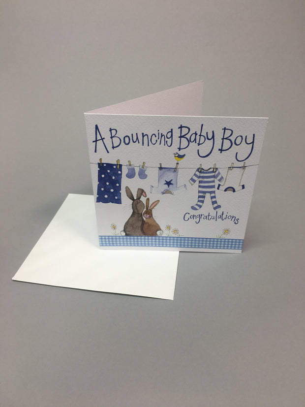 Beautiful baby boy card