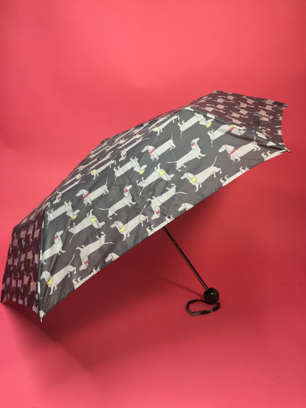 Sausage dog print umbrella