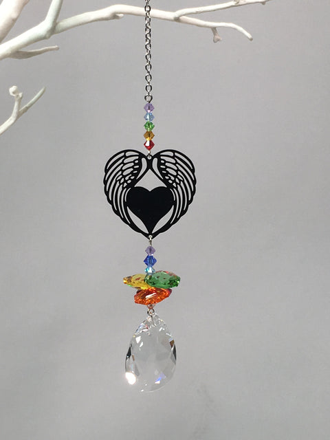 Angel wings suncatcher