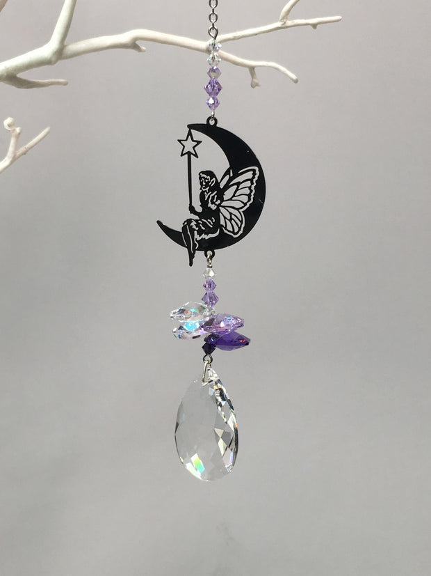 Moon fairy suncatcher