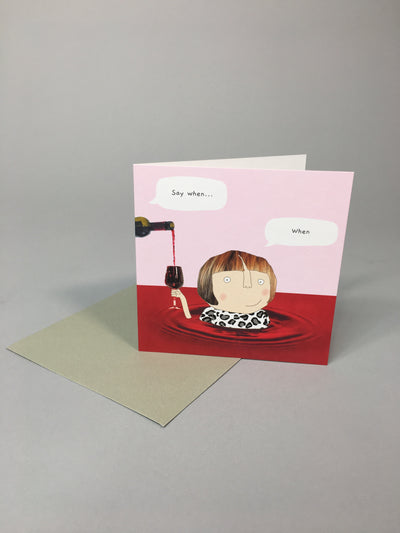 Wine when card