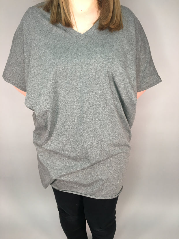V neck long length top