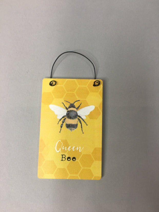 Queen bee motto tag