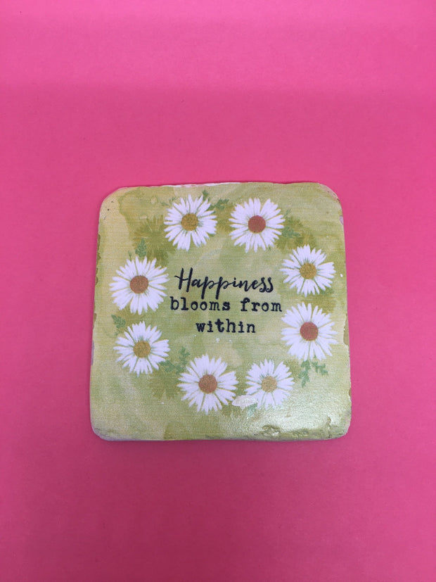 Happiness blooms coaster