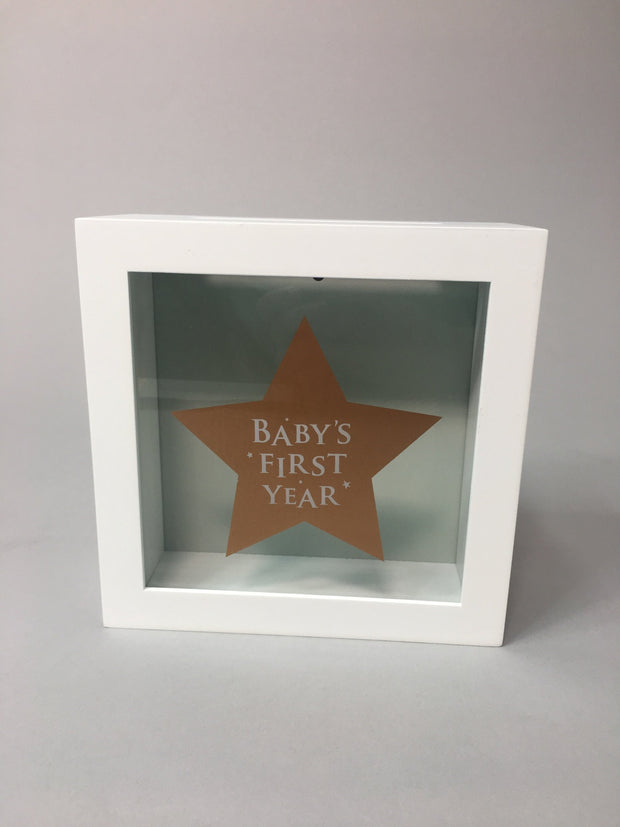 Baby's milestone cards & box