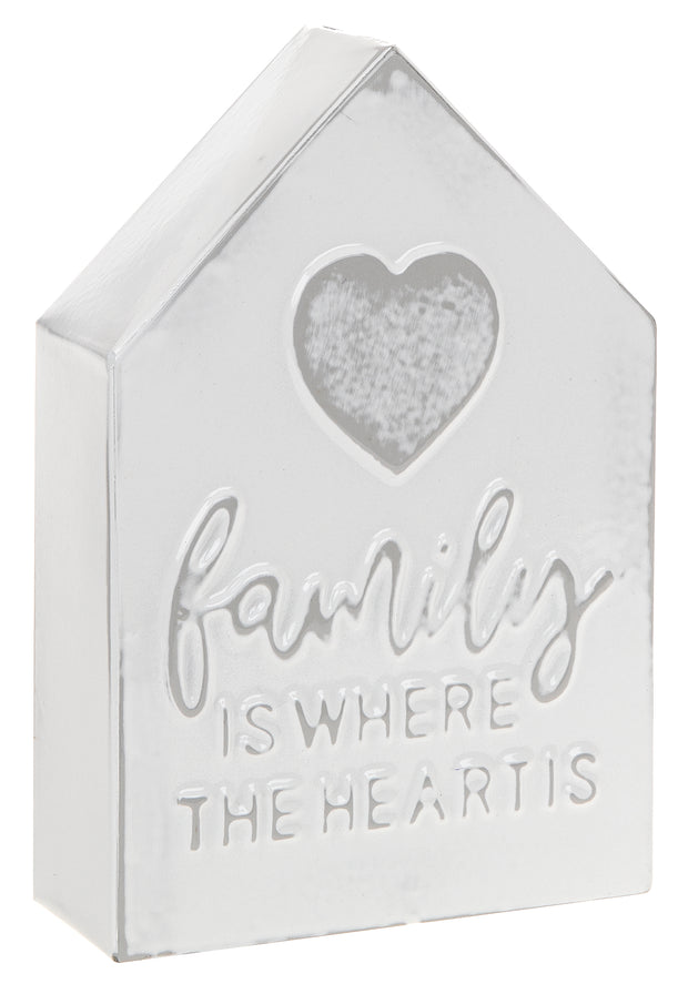 Family Metal House Plaque