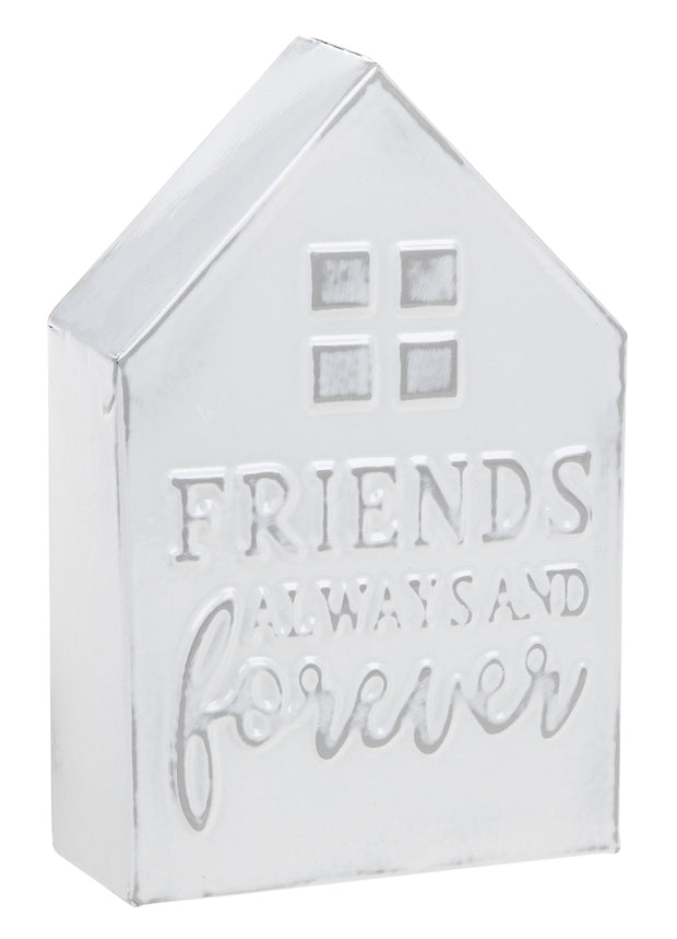 Friends Metal House Plaque