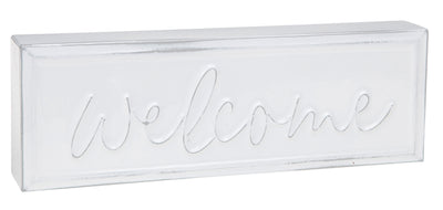 Welcome Metal Plaque
