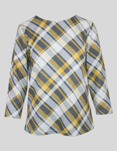 MITZY Diamond Check Brushed Top