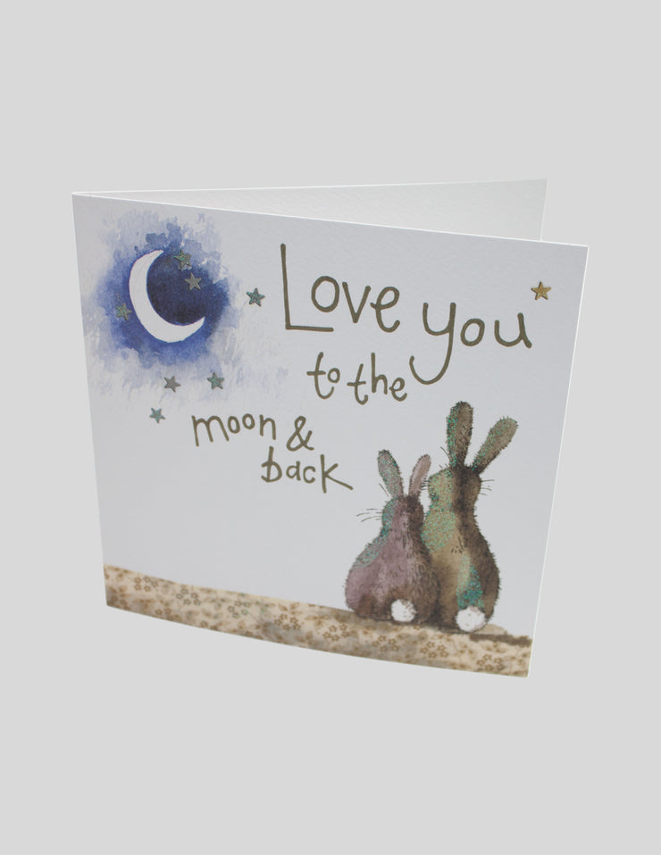 Alex Clark Love You To The Moon And Back Card