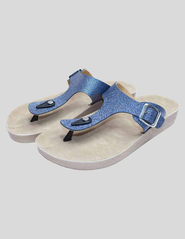 Buckle toe post sandal
