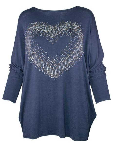 Batwing Heart Front Top