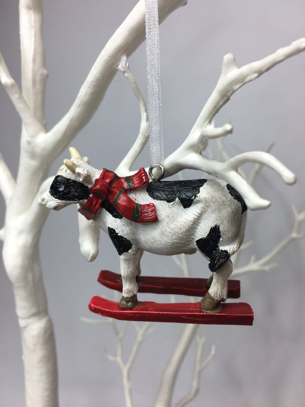 Hanging Christmas Cow Tree Decoration