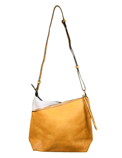 Asymmetric Zip Shoulder Bag