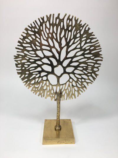 Gold Coral Sculpture